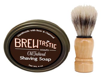 Milk Stout Beer & Oatmeal Shave Soap / Shaving Soap
