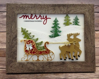 Christmas Wishes Sleigh Ride 5 x 7  Frame Decor Kit