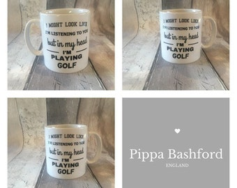 Golf mug- golf-golfer mug-dad mug - golfer-golfing mug- golfing-golf player - hole in one - id rather be playing golf
