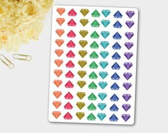 Diamond Sticker, Decorative Diamonds, Wedding Planner, Diamonds Planner Sticker, Small Stickers