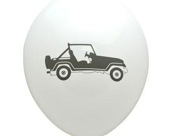 Gunmetal Gray Jeep Party Balloons (Pkg of 3) - PB1146