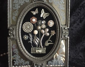 Once Upon a Time Vintage Framed Jewellery Bouquet