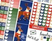 Santas' Big Night! No White-Space Weekly Kit - Planner Stickers