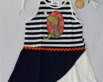 Dress girl, beach dress, beach dress with shoulder straps, adjustable straps size 2-3 years. Different children's clothing