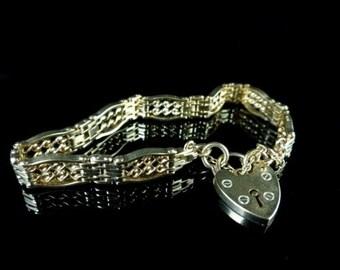 Victorian Gold Fancy Twist Gate Bracelet