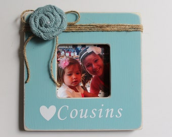 rustic picture frame cousin frame turquoise frame favorite cousin picture frame