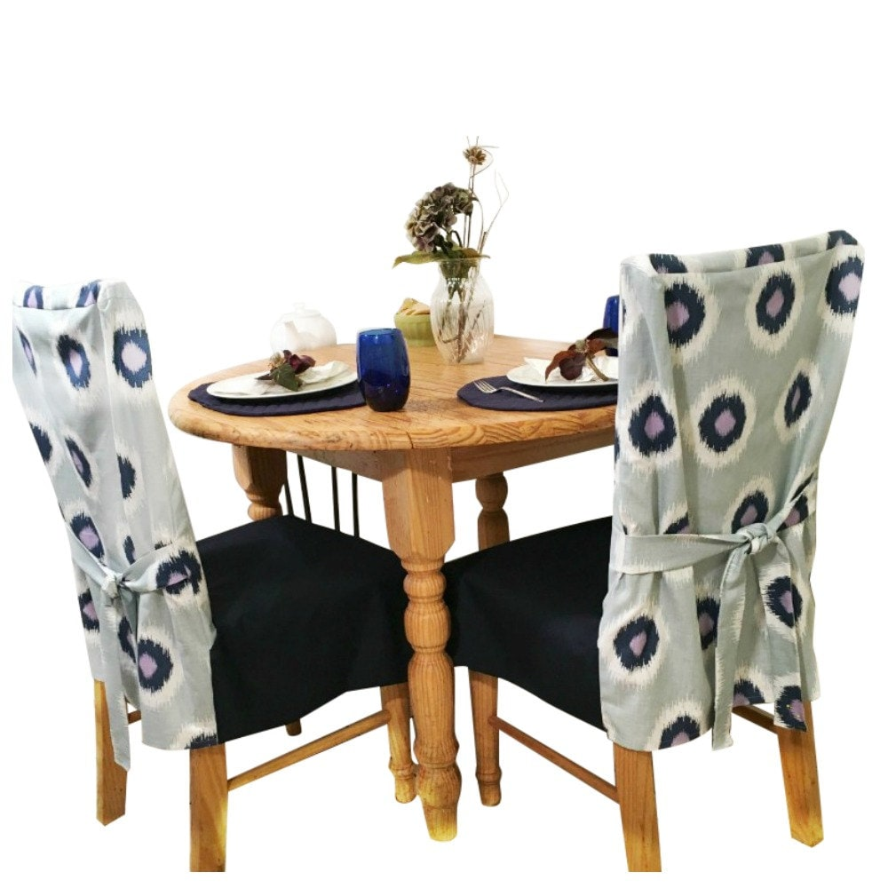 Blue Slipcovers For Dining Chairs Navy Chair Slipcover
