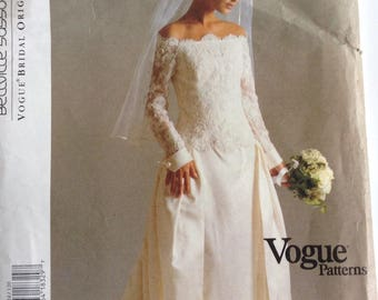 Designer Bridal Gown/Wedding Dress Vogue sewing pattern