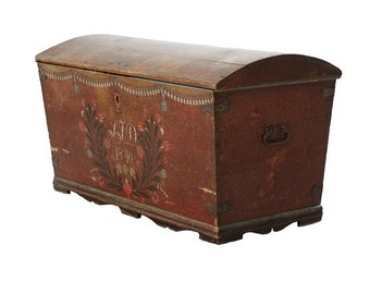 Antique Swedish Wedding Chest 1840