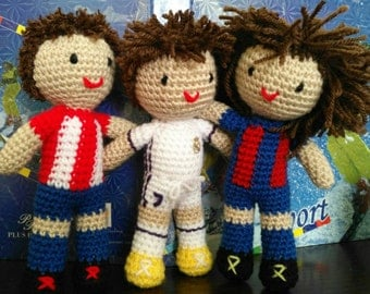 Football amigurumi dolls