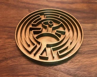 Westworld Maze, 3d Printed, Father's Day Gift, Dad Gift,Fan Art, Home Decor, Desk Decor, West World, Hbo Series, BF Gift, Husband Gift