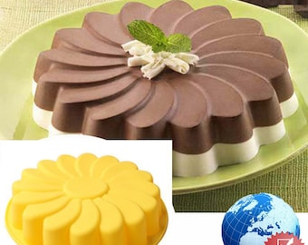Silicone Large Flower Cake Mould Chocolate Soap Candy Jelly Mold