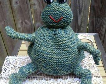 Vintage Handmade/Woolen Frog Green Tea Cozy