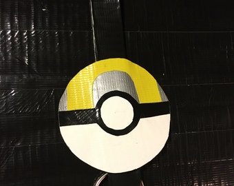 Duct Tape Pokemon Ultra ball Keychain