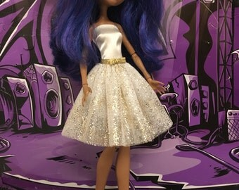 2 Piece Set Dress+Skirt for Monster High doll