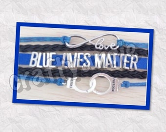 Blue Lives Matter Bracelets