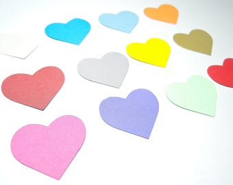 200 confetti heart - choice of colors