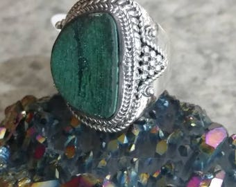 Malachite Ring Size 8 1/2