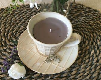 Birdcage Tea Cup & Saucer Candle