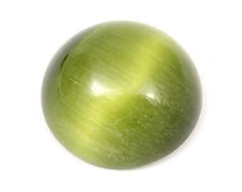 Green Cat's Eye Cabochon. Round Cat Eye Cabochon. Round Green Cabochon. Green Round Cabochon. Green Stone Cabochon. Jewelry Cabochon 21mm