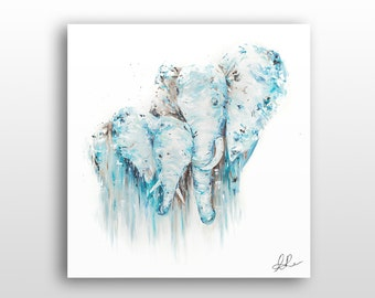Baby Elephant Wall Decor, Unique Wildlife Art, Limited Edition Print Reproduction