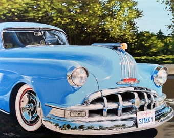 Pontiac | 36.2 * 28.7 in (  92 * 73 cm ) | Original Oil Painting | FREE WORLDWIDE SHIPPING