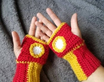 Iron Man inspired Fingerless Gloves