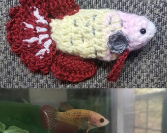 Customized  Betta Fish Plushie *SALE*