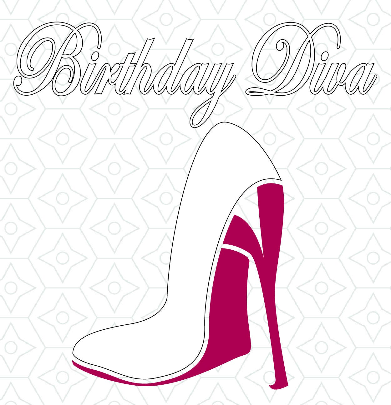 Birthday Diva Decal Design Svg Dxf Eps Vector Files For
