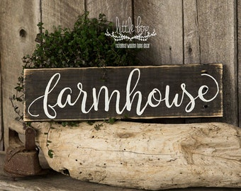 Farmhouse Decor / Farmhouse Script Sign / Home Decor / Farmhouse Sign / Home & Living / Farmhouse / White Sign /   Kitchen Sign