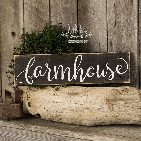 Farmhouse Decor / Farmhouse Script Sign / Home Decor
