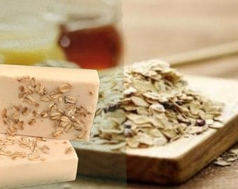Handmade oatmeal-honey goats milk soap