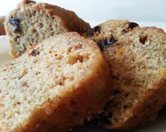 GLUTEN-FREE Banana raisin bread - Banana raisin sweet loaf - various sizes