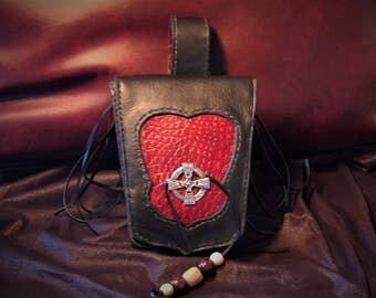 Leather Belt Bag, Motorcycle Belt Bag, Hip Bag