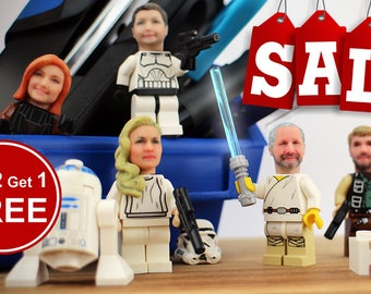 Become your own minifigure - Buy 2 get 1 FREE