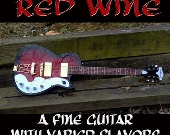 Red Wine 15-Voice Electric Guitar