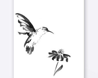 DIGITAL download - WATERCOLOR BIRD aquarelle silhouette - Handmade Painting