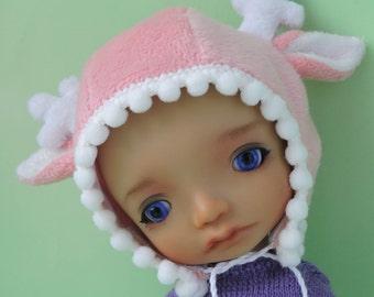 Deer cap pink color for a doll BJD IrrealDoll