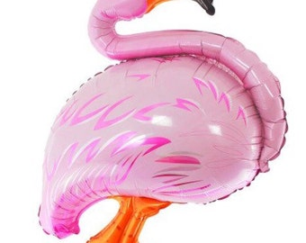 "36"" large pink flamingo bird balloon retro"