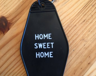 Home Sweet Home vintage hotel keychain