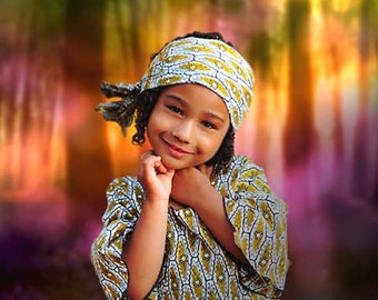 Custom Fantasy Magical Background for Child Portrait.  Photo created with Photoshop