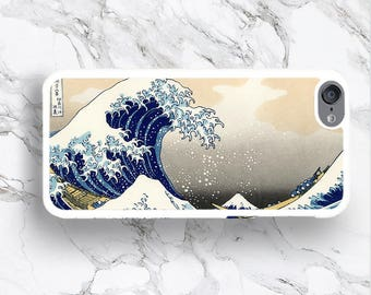 iPod Touch 6 Japanese Blue Wave Art Phone Case, 6G Japan Classic Art Pattern iPod 6 Covers, iTouch 5th Generation 4 Nature Cover