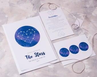 Written in the Stars Wedding Invitation - Invite Suite sample