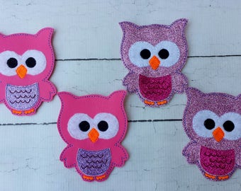 Owl headband.Owl hairclips.Emboiredered owl headband.