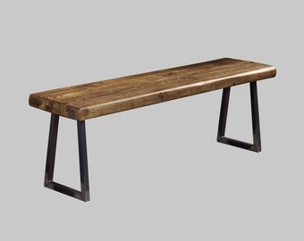 Industrial Reclaimed Timber Bench with Tri Base