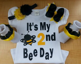 2nd birthday shirt, 1st Birthday, Shirt, Bumble bee birthday, birthday shirt