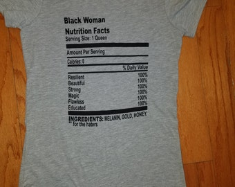 Black Woman Nutrition Facts