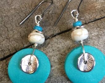Hippie Earrings, Boho Earrings, Dangle Earrings, Clay Earrings, Beach Earrings, Unique Earrings