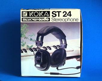 Koka ST 24 Stereophone Headphones - Musicway Audio Stereo & Mono Head Phones - 70s Vintage Retro Classic Hifi