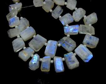 70%OFF White rainbow Fancy Beads Faceted Uncut 100 Persent Natural Gemstone Size 10x15 To 8x12 mm Approx  - 0W1